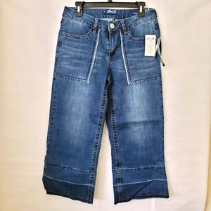 Seven7 Womens Gaucho Wide Leg Culottes Jeans Size 8